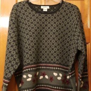 Eddie Bauer Shetland wool sweater